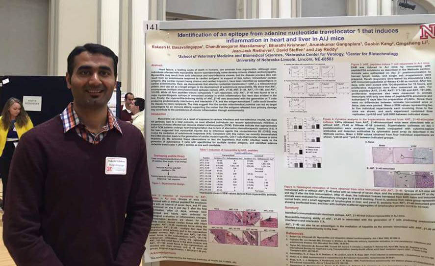 Rakesh Basavalingappa at the poster session.