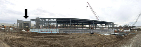 Photo of the construction site for the new VDC